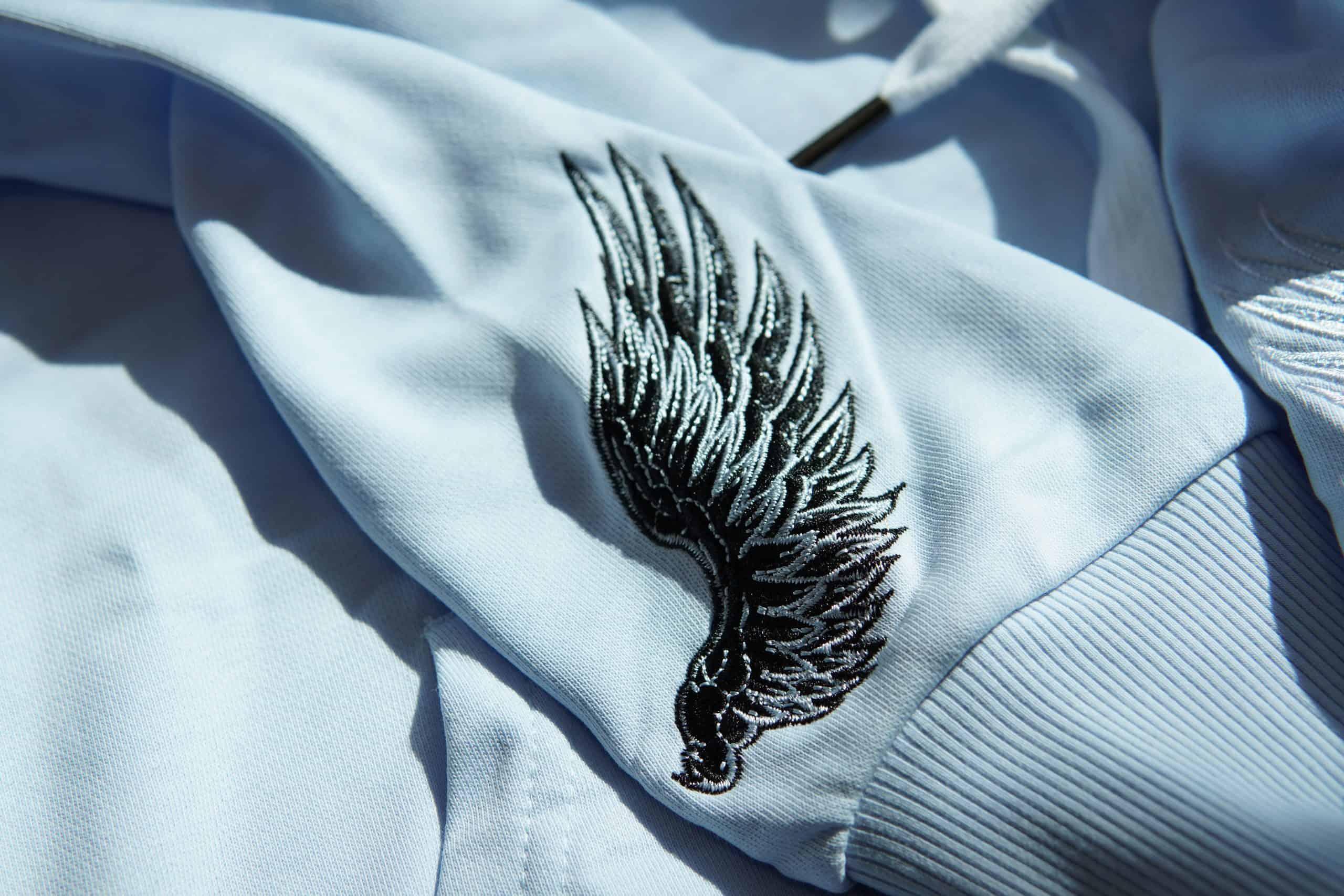 自家品牌 精棉衛衣布 105號色 刺繡